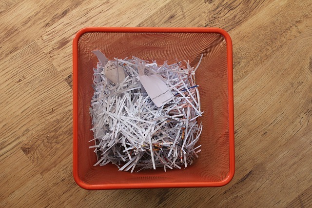 shredded paper